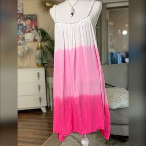 Dresses & Skirts - ⬇️⬇️🔥Sale!🔥Pink spaghetti beaded dress. M/L